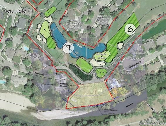 Proposed development and course reconfiguration